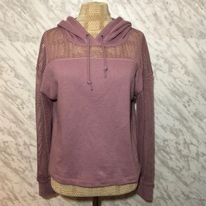 PINK Victoria's Secret Mesh Hoodie Pink Size Small